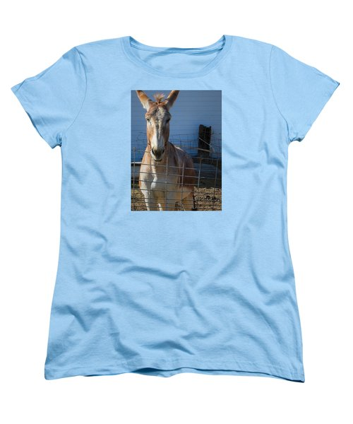 Women's T-Shirt (Standard Cut) featuring the photograph What's Up by Nadalyn Larsen