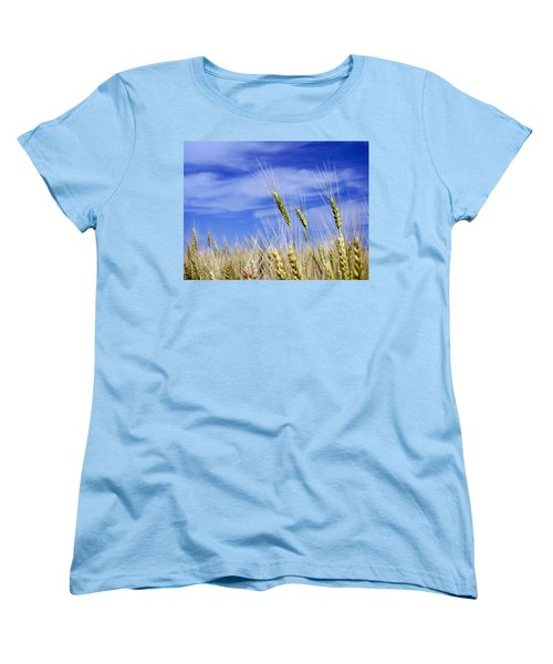 Women's T-Shirt (Standard Cut) featuring the photograph Wheat Trio by Keith Armstrong