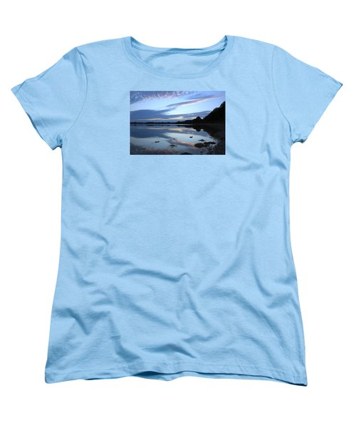 Women's T-Shirt (Standard Cut) featuring the photograph When Gold Turned To Blue by Wendy Wilton