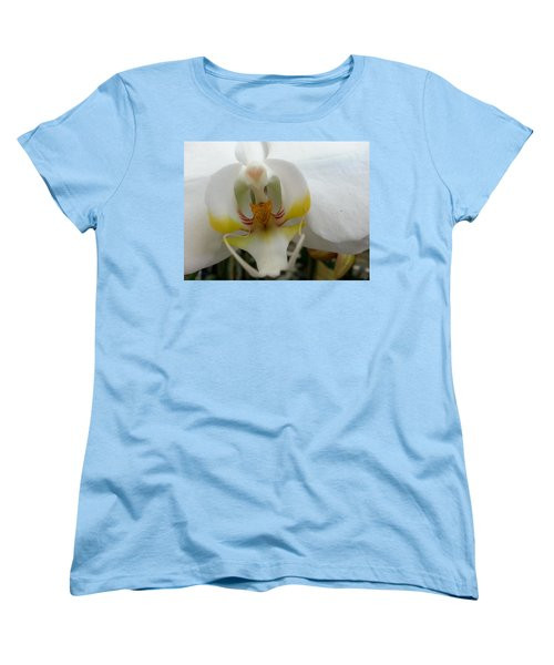 White And Yellow Orchid Women's T-Shirt (Standard Cut)