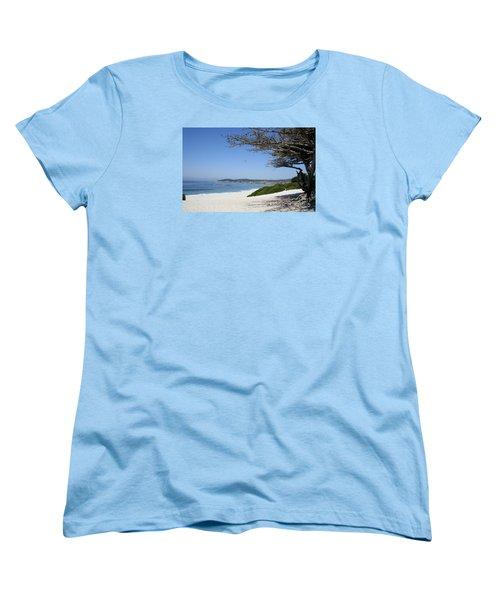 White Beach At Carmel Women's T-Shirt (Standard Cut) by Christiane Schulze Art And Photography