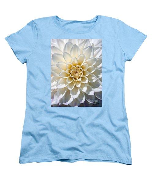 Women's T-Shirt (Standard Cut) featuring the photograph White Dahlia by Carsten Reisinger