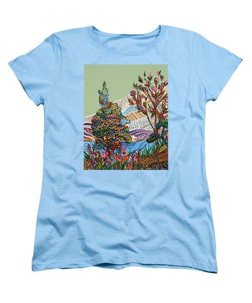White Hills Women's T-Shirt (Standard Cut) by Erika Pochybova