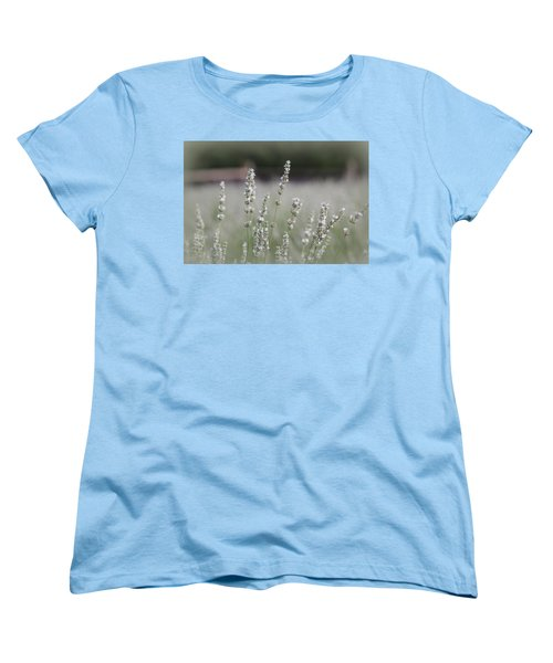 Women's T-Shirt (Standard Cut) featuring the photograph White Lavender by Lynn Sprowl