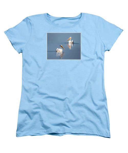 Women's T-Shirt (Standard Cut) featuring the photograph White Pelicans by Patti Deters