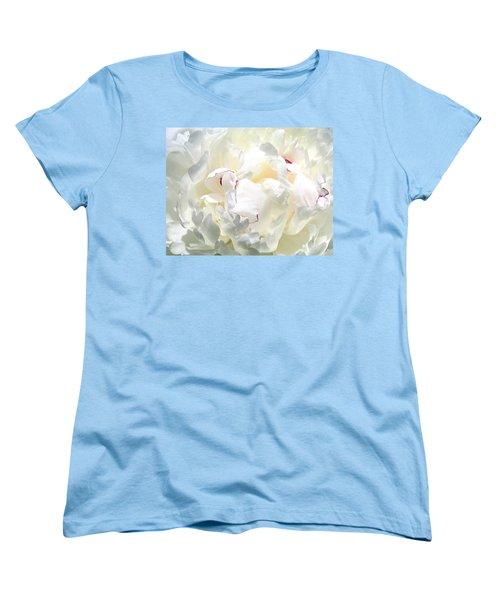 White Peony Women's T-Shirt (Standard Cut)