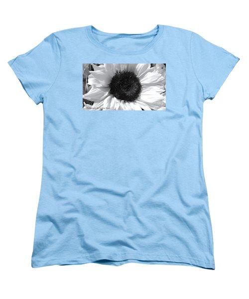 Women's T-Shirt (Standard Cut) featuring the photograph White Sunflower by Jeannie Rhode