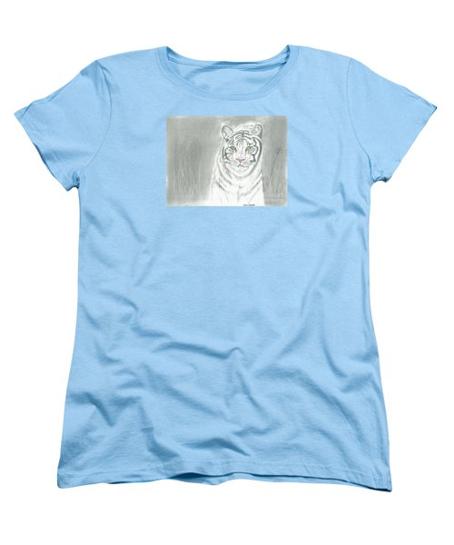 White Tiger Women's T-Shirt (Standard Cut) by David Jackson