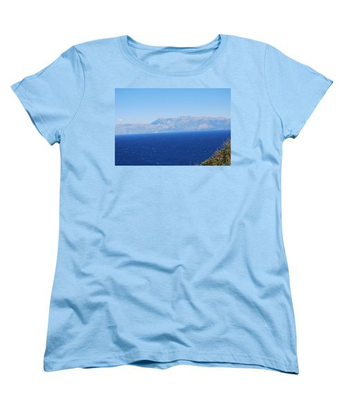 Women's T-Shirt (Standard Cut) featuring the photograph White Trail by George Katechis