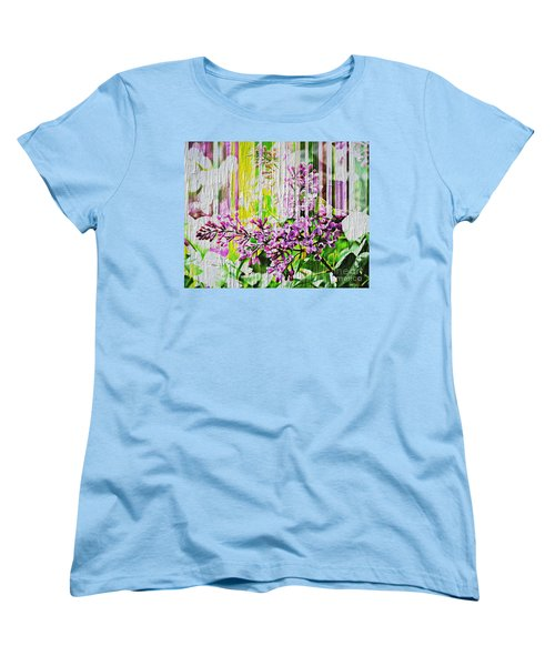 Women's T-Shirt (Standard Cut) featuring the photograph White Washed Painted Lilac by Judy Palkimas