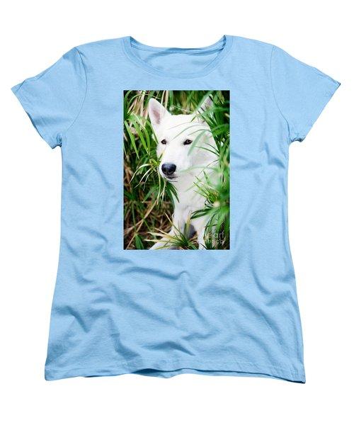 Women's T-Shirt (Standard Cut) featuring the photograph White Wolf by Erika Weber