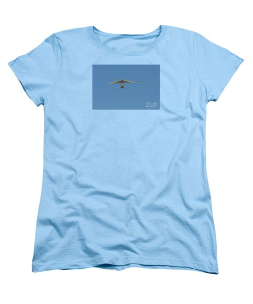 Whooping Cranes And Operation Migration Ultralight Women's T-Shirt (Standard Cut) by Paul Rebmann
