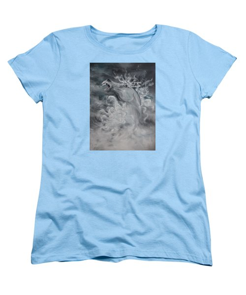 Women's T-Shirt (Standard Cut) featuring the painting Wild And Free by Jean Walker