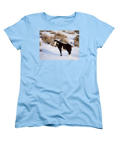 Wild Horse Stallion Women's T-Shirt (Standard Cut) by Nadja Rider