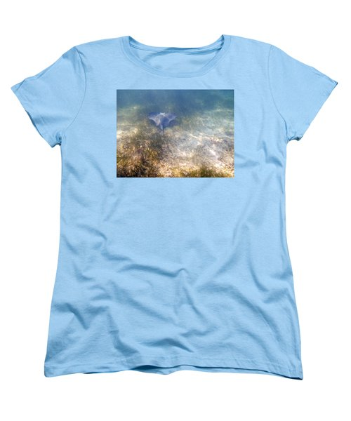 Women's T-Shirt (Standard Cut) featuring the photograph Wild Sting Ray by Eti Reid