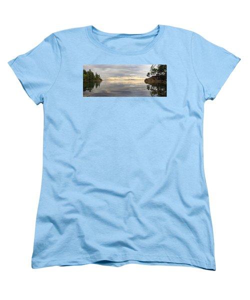 Women's T-Shirt (Standard Cut) featuring the photograph Wildcat Cove Along Chuckanut Drive In Washington by JPLDesigns