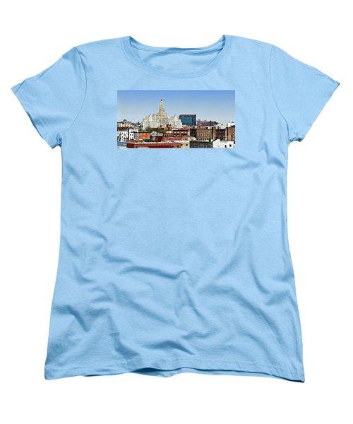 Williamsburg Savings Bank In Downtown Brooklyn Ny Women's T-Shirt (Standard Cut) by Lilliana Mendez