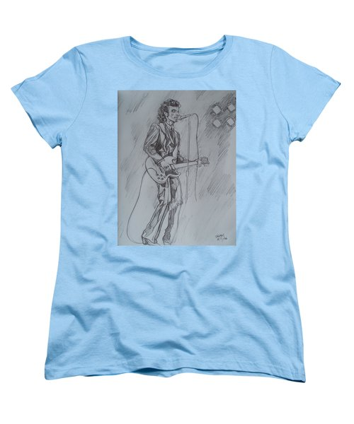 Mink Deville - Steady Drivin' Man Women's T-Shirt (Standard Cut) by Sean Connolly