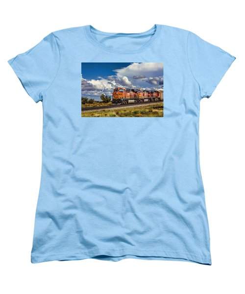 Wind And Rail Women's T-Shirt (Standard Cut) by Fred Larson