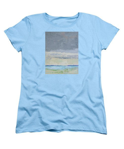 Wind And Rain On The Bay Women's T-Shirt (Standard Cut) by Gail Kent
