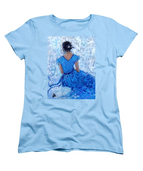Women's T-Shirt (Standard Cut) featuring the painting Wind Of Hope.. by Cristina Mihailescu