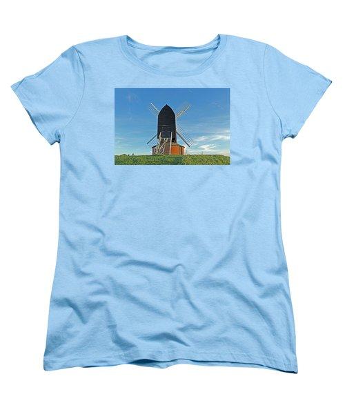 Windmill At Brill Women's T-Shirt (Standard Cut) by Tony Murtagh