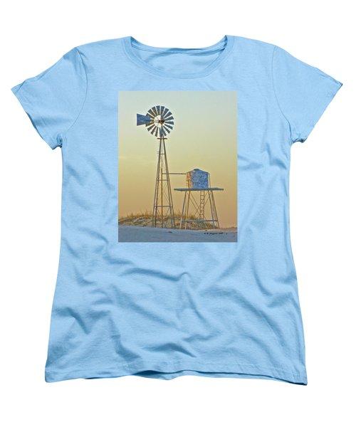 Windmill At Dawn 2011 Women's T-Shirt (Standard Cut) by Allen Sheffield