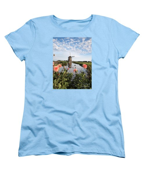 Windmill Landscape In Holland Women's T-Shirt (Standard Cut) by IPics Photography