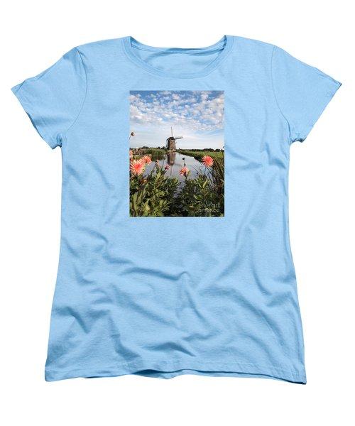 Windmill Landscape In Holland Women's T-Shirt (Standard Cut)