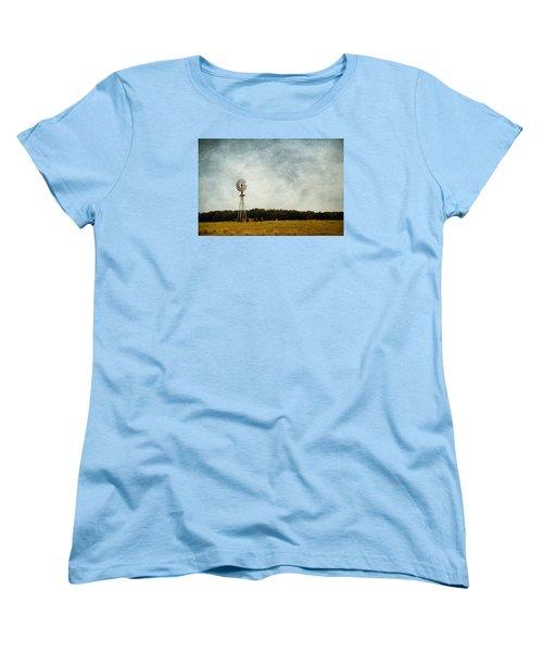 Windmill On The Farm Women's T-Shirt (Standard Cut) by Beverly Stapleton