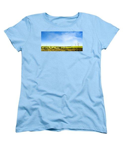 Women's T-Shirt (Standard Cut) featuring the photograph Windmill by Yew Kwang