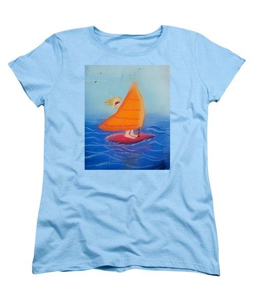 Windsurfer Dude Women's T-Shirt (Standard Cut)