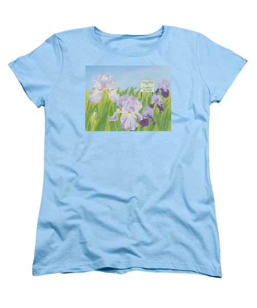 Women's T-Shirt (Standard Cut) featuring the painting Windy Brae Gardens by Arlene Crafton