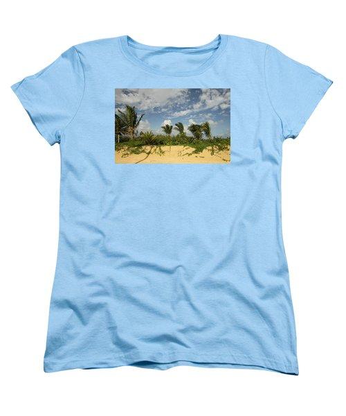 Windy Palms Women's T-Shirt (Standard Cut) by Mustafa Abdullah