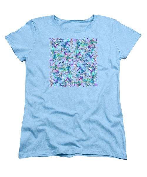 Wings On Blue Duvet Cover Women's T-Shirt (Standard Cut) by Teresa Ascone