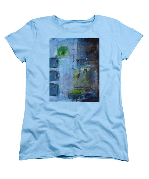 Women's T-Shirt (Standard Cut) featuring the painting Winter 2 by Nicole Nadeau