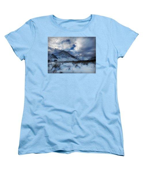 Winter At Tryfan Women's T-Shirt (Standard Cut) by Beverly Cash