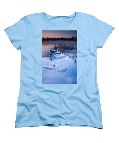 Women's T-Shirt (Standard Cut) featuring the photograph Winter Dawn by Davorin Mance