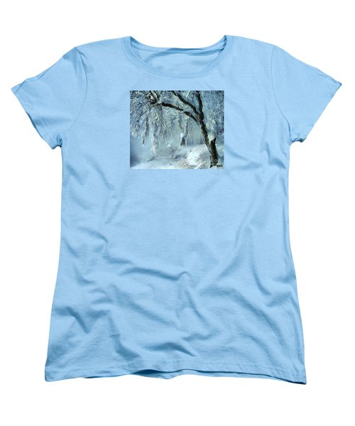 Women's T-Shirt (Standard Cut) featuring the painting Winter Dreams by Dragica  Micki Fortuna