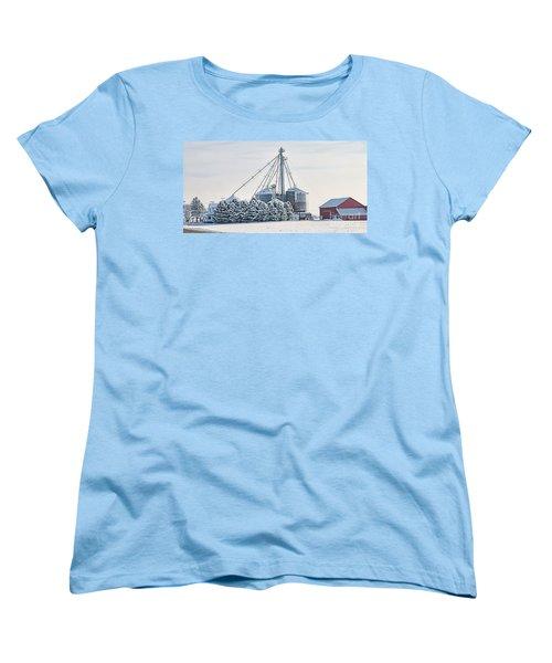 Winter Farm  7365 Women's T-Shirt (Standard Cut) by Jack Schultz