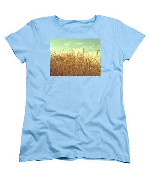Winter Grass Women's T-Shirt (Standard Cut) by Rachel Mirror