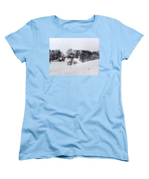 Winter Landscape 5 Women's T-Shirt (Standard Cut) by Dan Stone