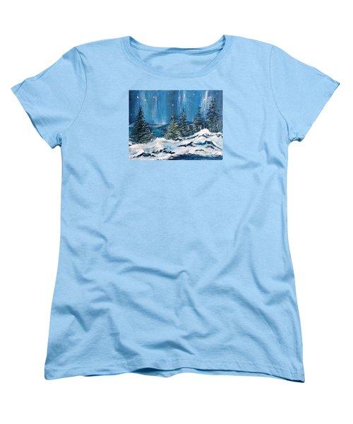 Winter Night Women's T-Shirt (Standard Cut) by Teresa Wegrzyn