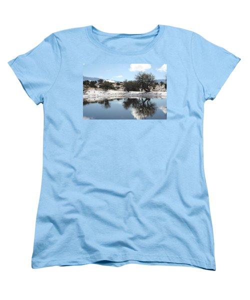 Winter Reflections Women's T-Shirt (Standard Cut) by David S Reynolds