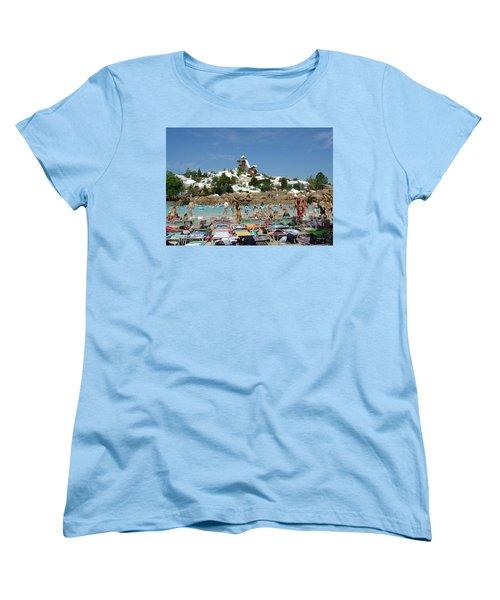 Women's T-Shirt (Standard Cut) featuring the photograph Winter Shore Line by David Nicholls