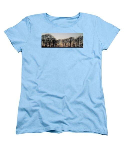 Winter Skyline Women's T-Shirt (Standard Cut) by Richard Brookes