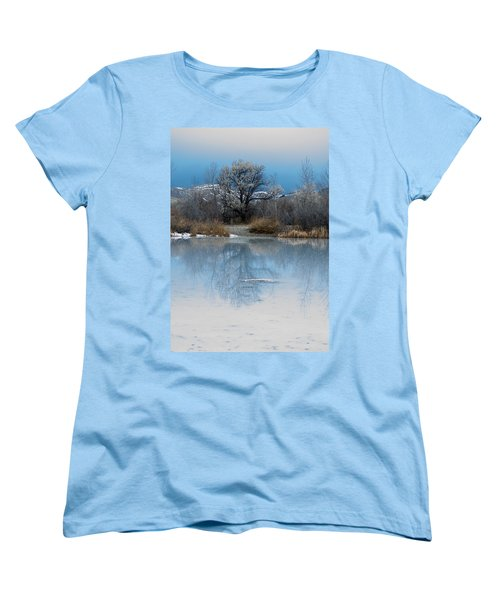 Winter Taking Hold Women's T-Shirt (Standard Cut) by Fran Riley