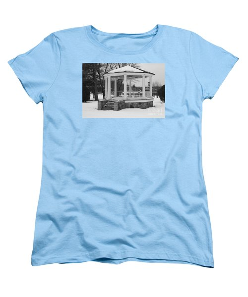 Winter Time Gazebo Women's T-Shirt (Standard Cut) by John Telfer