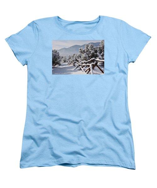 Winter Trail Beckons Women's T-Shirt (Standard Cut) by Diane Alexander