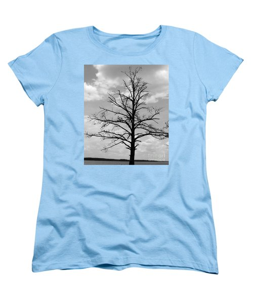 Women's T-Shirt (Standard Cut) featuring the photograph Winter Tree by Andrea Anderegg
